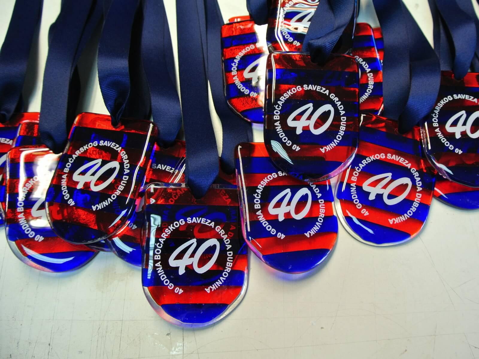 Izrada sportkih medalja od stakla