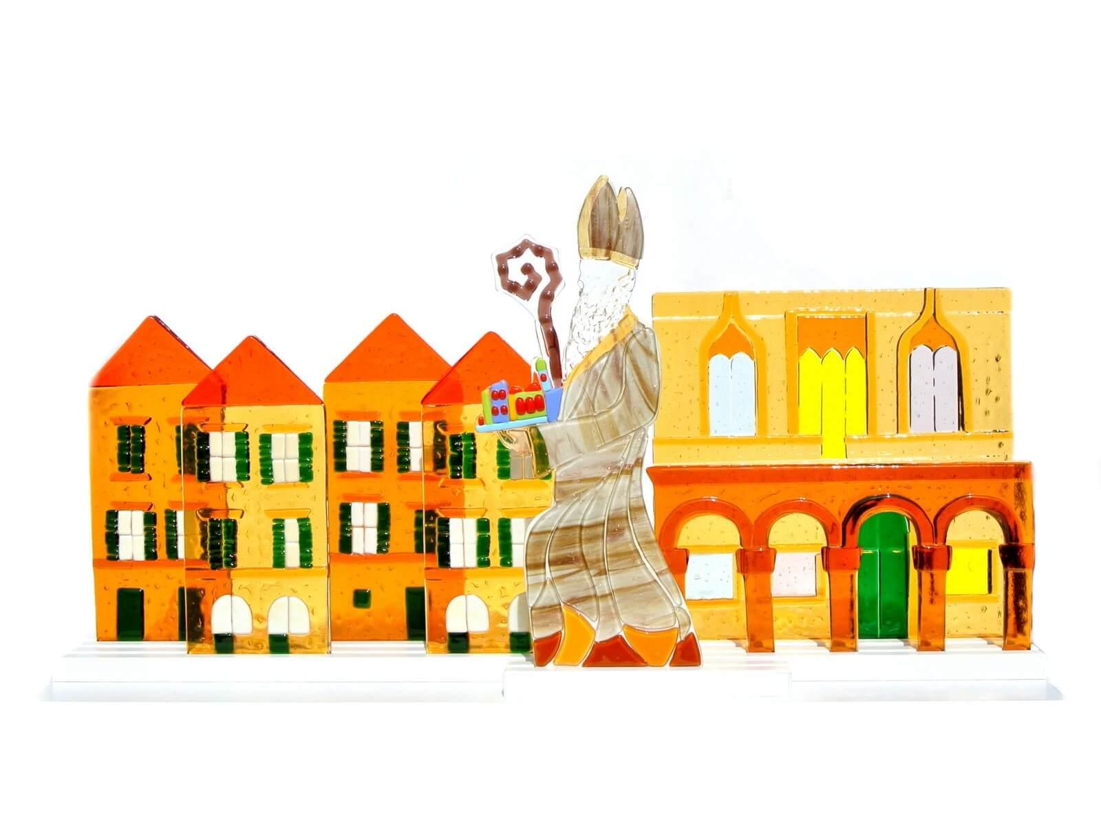 Sveti Vlaho na Stradunu skulptura od stakla